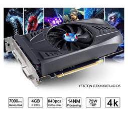 GeForce GTX 1050Ti GPU 4GB GDDR5 128 bit Gaming Desktop computer PC Video Graphics Cards support Ti
