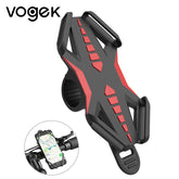 Vogek Bike Bicycle Phone Holder, Motorcycle Handlebar Mount Bracket GPS Phone Stand for iPhone Samsung Xiaomi Universal Silicone