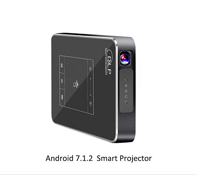 2018 Newest Smartldea T18 Android 7.1.2 Portable DLP Projector Support AC3 HD 1080P Video Game Beamer Bluetooth Airplay DLNA