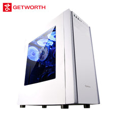GETWORTH S4 Office Desktop I3 8100 1TB 4G RAM Gaming Computer For LOL Excel PPT White Color H110M Genuine Win10 Can Add 120G SSD