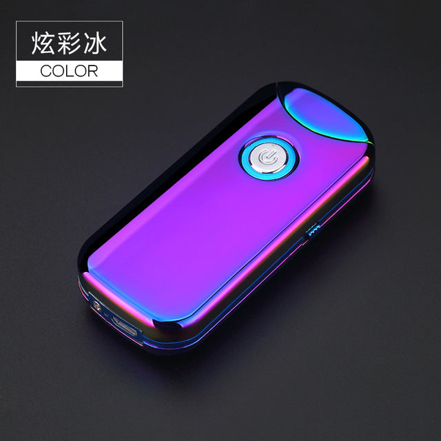 2018 Latest Electric Arc Lighters Innovative USB Charging Lighter Double Arc Pulse Flameless Usb Lighter Fashion Business Gift