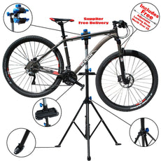 Adjustable Bike Repair Stand Parking 104-190 cm Steel Alloy + PP Mountain Bicycle Accessories Outdoor Bicycle Repair Tool