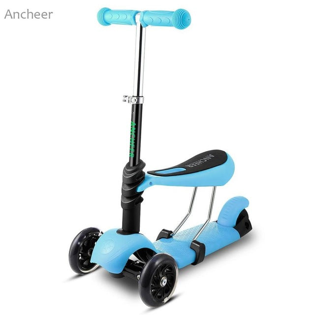 ANCHEER Brand New Kids Boys Girls Kick Scooter 3 Wheels Kickboard Fun Exercise Scooters Children City Roller Skateboard