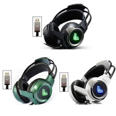 Gaming USB Headset PC Headphones For PUBG 7.1 Sound Channel  Stereo Gamer  Game Internet Bar Computer