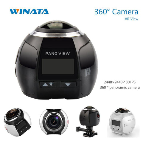 360 Camera 4K Wifi Mini Panoramic Camera 2448*2448 Ultra HD Panorama Camera 360 Degree Waterproof Sport Driving VR Camera