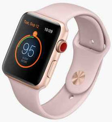 Apple Watch Series 3 (GPS + Cellular) - gold aluminium - smart watch with sport band - pink sand - 16 GB