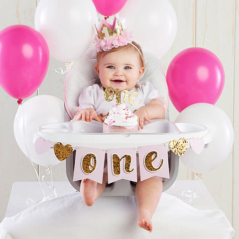 Gold Glitter 1st Birthday Kit
