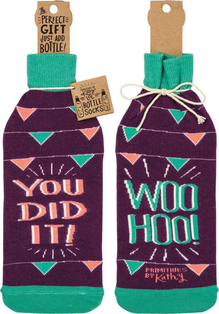 Bottle Sock - Woo Hoo You Did It