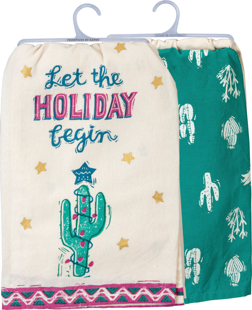 Dish Towel Set - Let The Holiday Begin