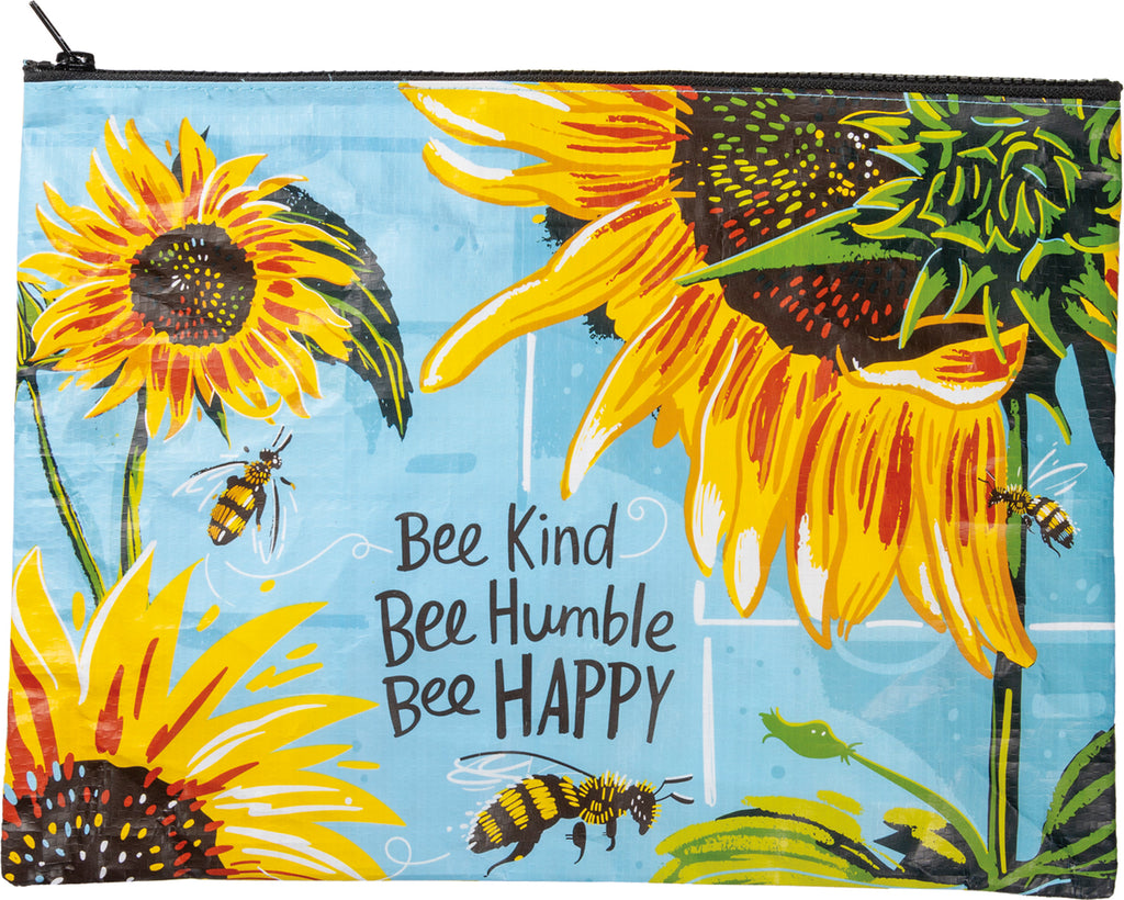 Zipper Folder - Bee Kind Bee Humble Bee Happy