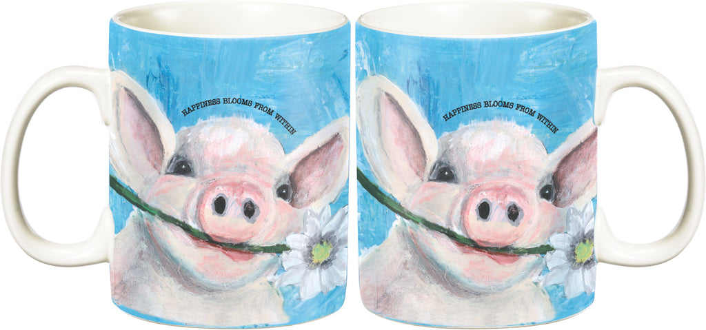 Mug - Happiness Blooms From Within