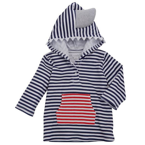 MUDPIE SHARK HOODED COVER-UP