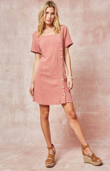 Button Down Woven Dress