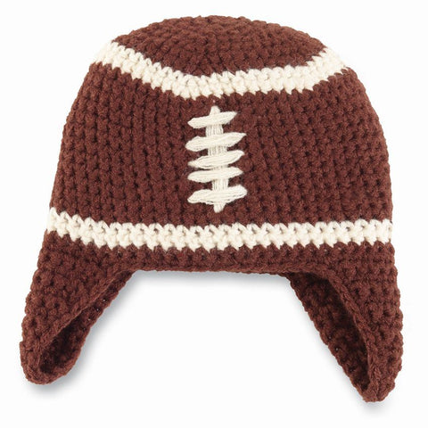 Chunky Football Knit Hat infant by MudPie