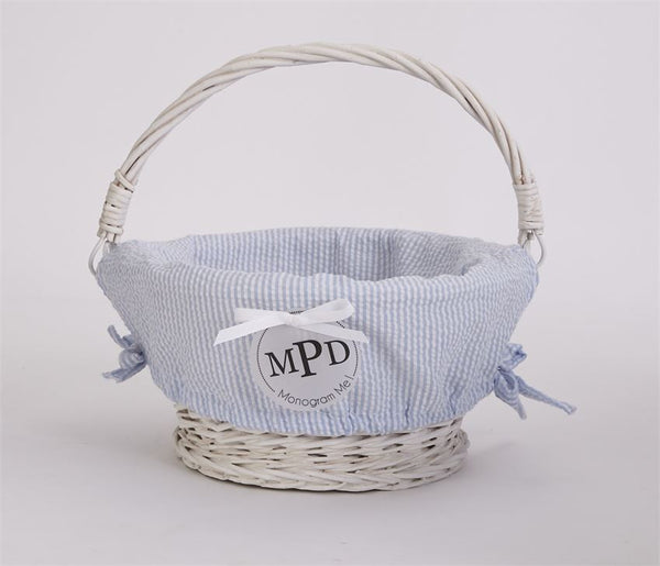 MUDPIE SEERSUCKER WICKER BASKETS