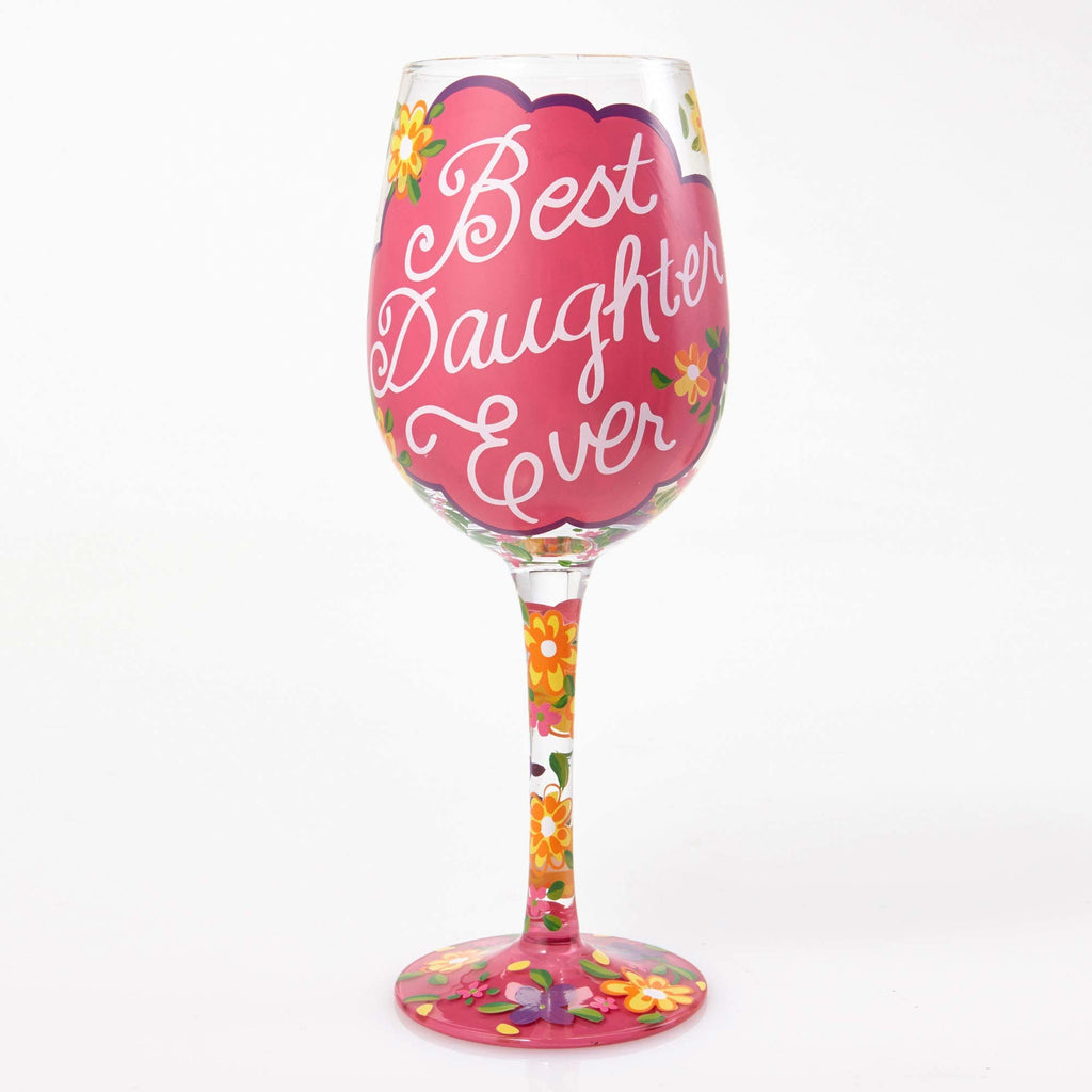 Wine Glass Love My Daughter by Lolita