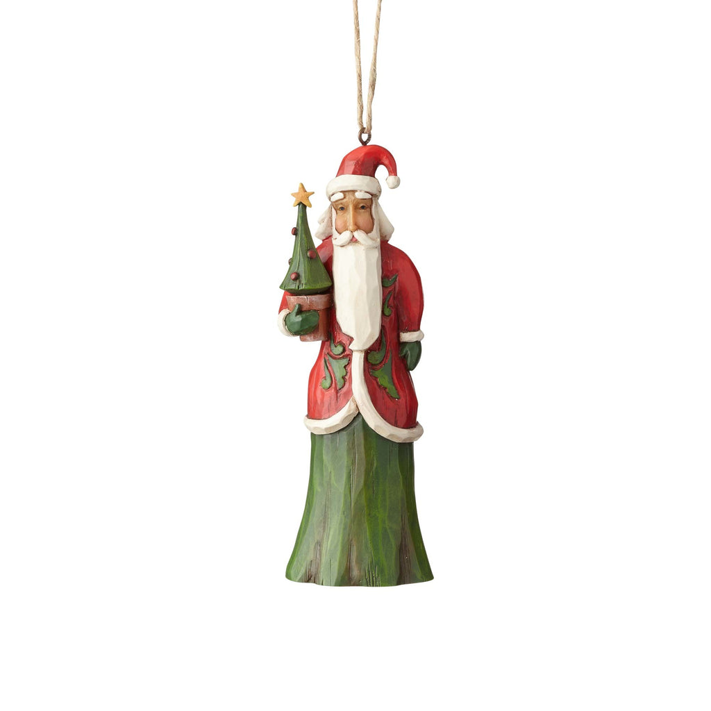 Folklore Santa w/Tree Ornament by Jim Shore