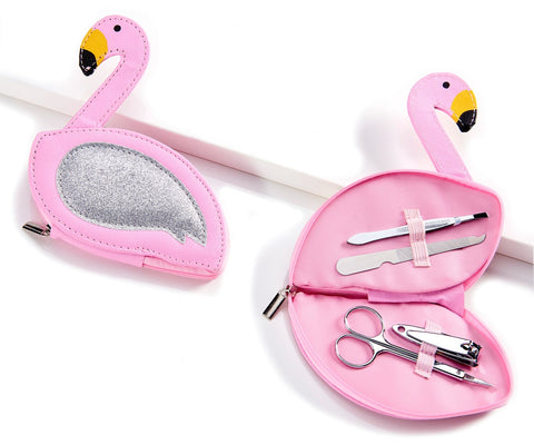 4 Piece Flamingo Manicure Set