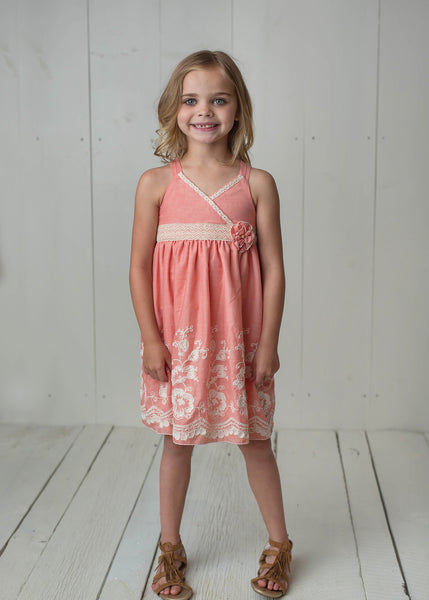 Isobella & Chloe Sweetwater Coral Dress