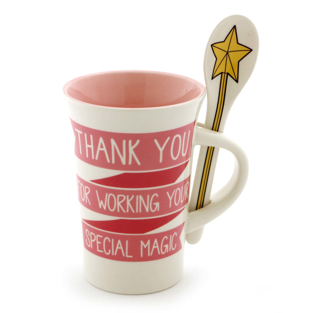 THANK YOU MAGIC MUG WITH SPOON