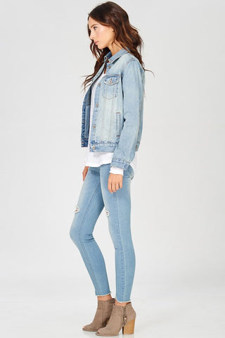 Classic Long Sleeve Jean Jacket