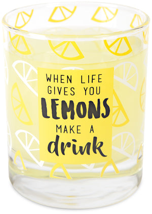 Lemons - 10 oz. Glass / Tea Light Holder