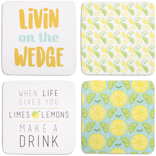 "Make a Drink - 4"" (4 Piece) Coaster Set with Box"