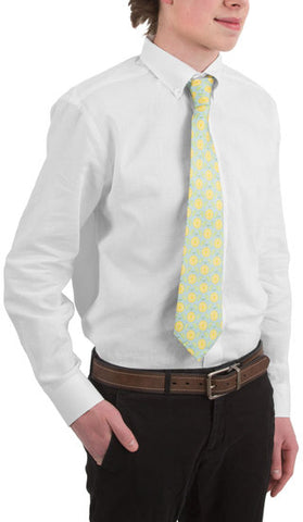Main Squeeze- Light Blue - Men's Classic Silk Tie