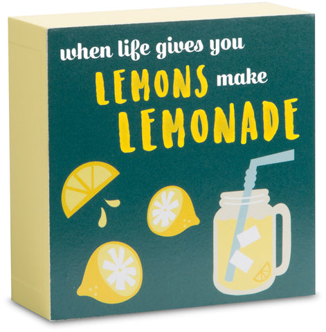 "Lemonade - 4"" x 4"" Plaque"