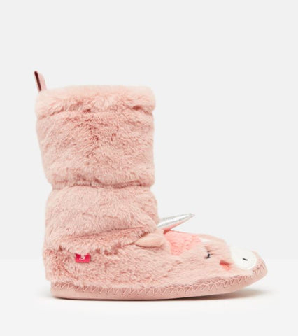 UNICORN PADABOUT LUXE FAUX FUR SLIPPER SOCK
