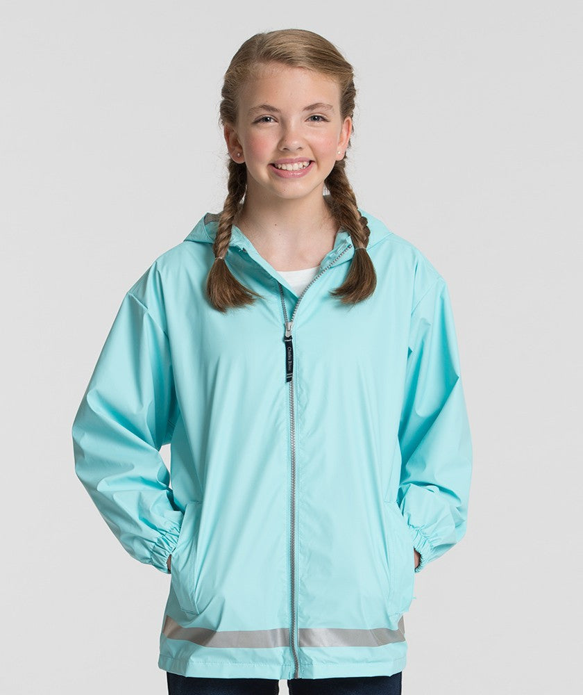 Monogrammed Youth New England Rain Jacket - Charles River Apparel