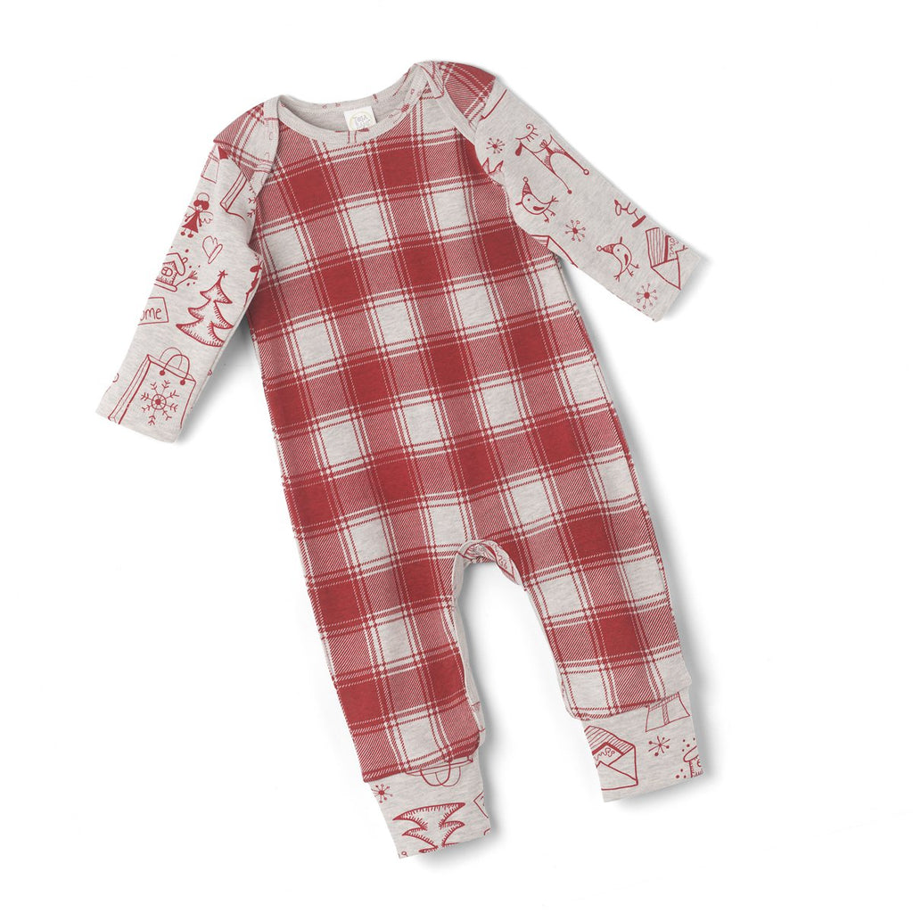 Xmas Red Plaid Romper