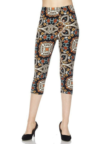 BUTTERY SOFT SUMMER MOTIF CAPRIS