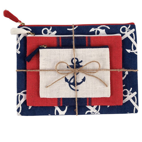 Mudpie Jute Case Trio - Anchor