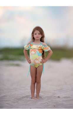 ISOBELLA & CHLOE SWIMWEAR VACTION GIRL 1PC SWIMSUIT 2046BK