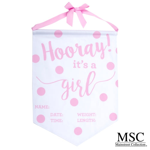 PINK GIRL BABY BANNER by MSC