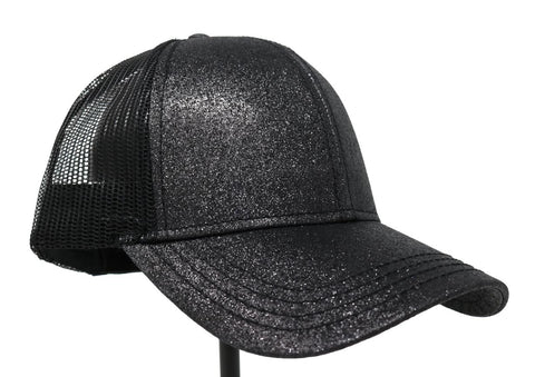 C.C Glitter High Ponytail Ball Cap
