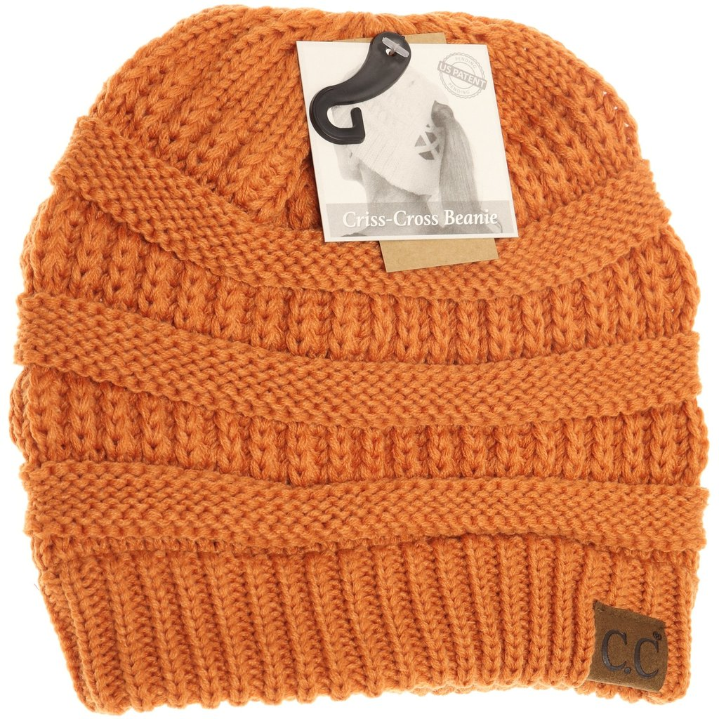 Criss-Cross Knit Beanie