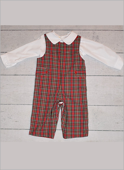 Christmas Plaid Infant Longall by LeZaMe