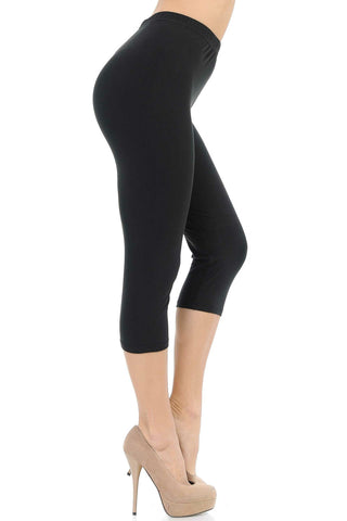 PLUS SIZE BUTTERY SOFT BASIC SOLID CAPRIS - NEW MIX