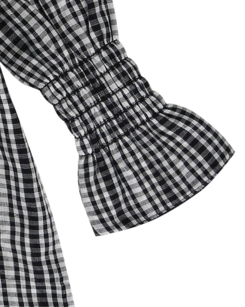 Black And White Checkered Reversible Dress
