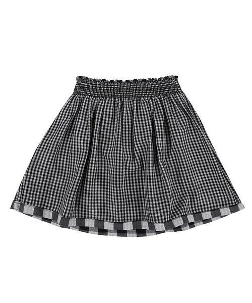 Reversible Checkered Skirt