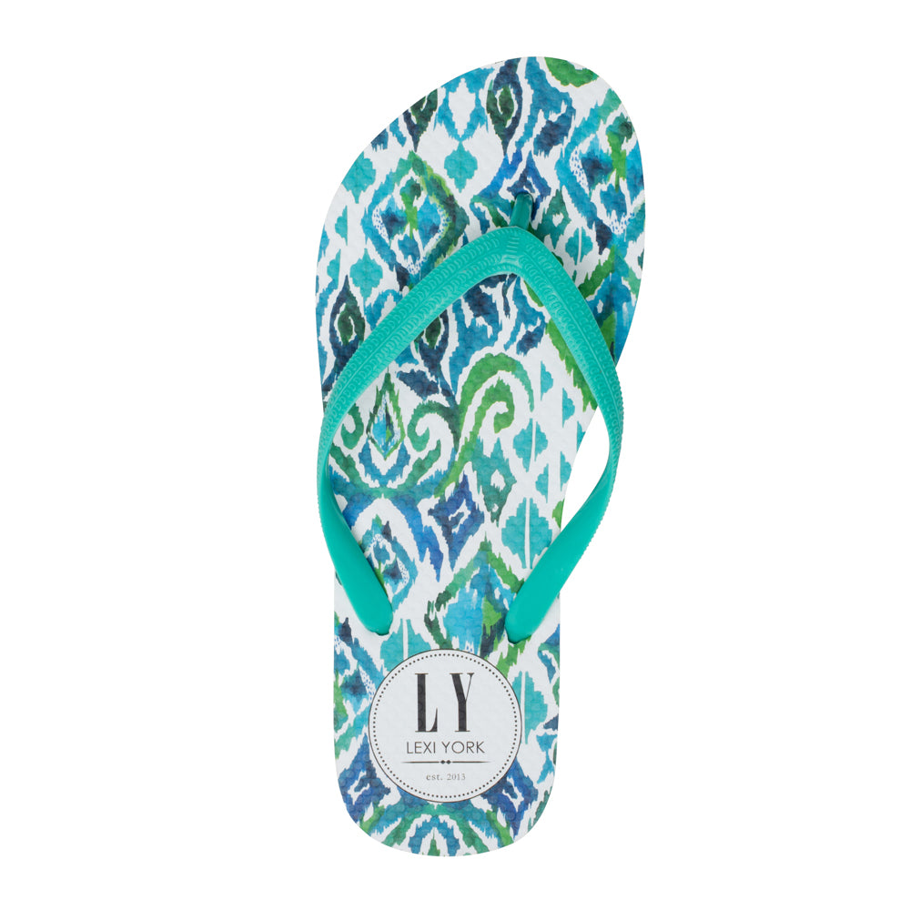 Tilley Green Tribal Flip Flops