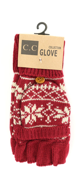 Red Snowflake Gloves
