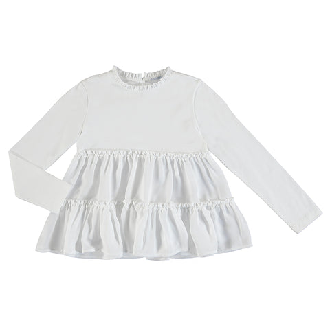 L/s ruffled top