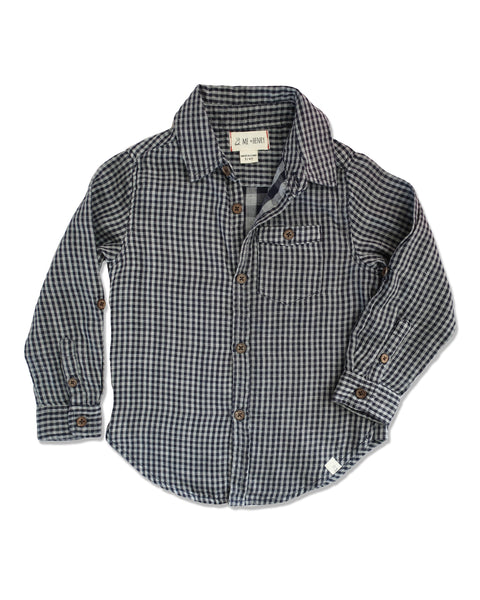 WOVEN SHIRT IN NAVY PLAID