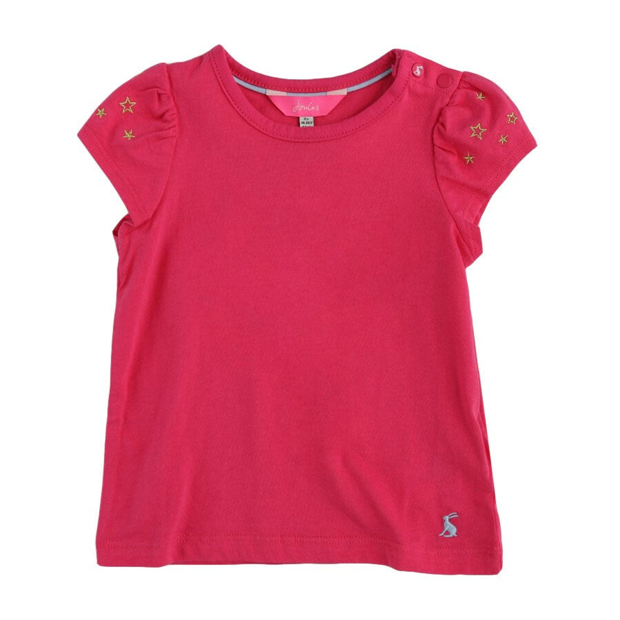 JOULES FLUTTER TOP PINK