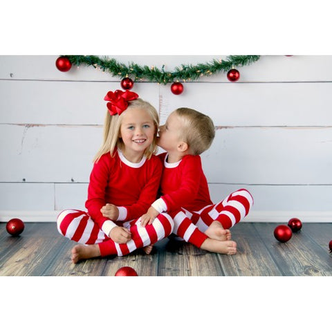 red and white childrens pajamas
