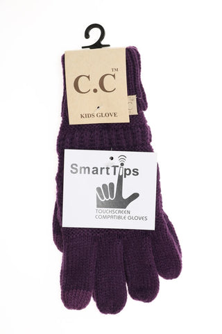 KIDS Solid Cable Knit CC Gloves