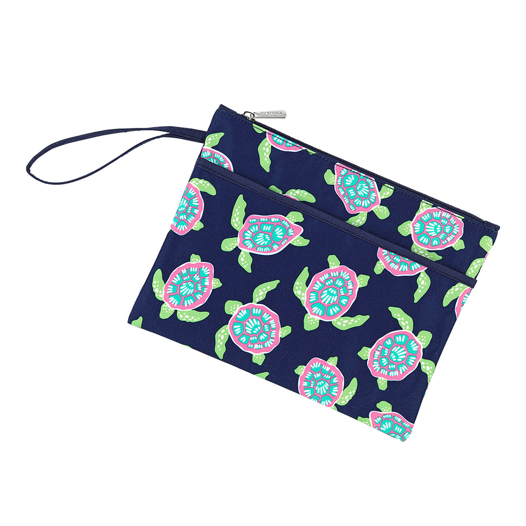 Turtle Bay Zip Pouch Wristlet